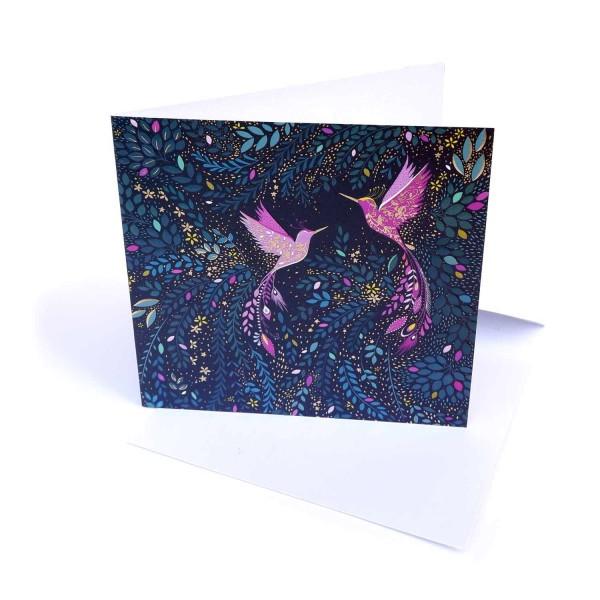 Hochzeitskarte Zwei Vögel / Letterpresskarte