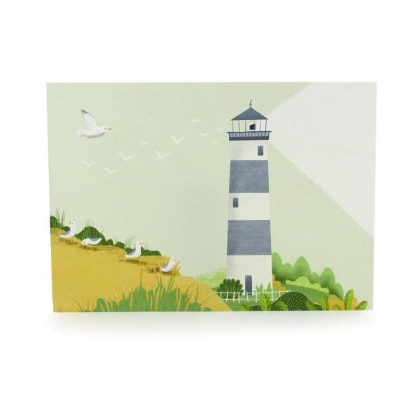 Postkarte mit einem Leuchtturm