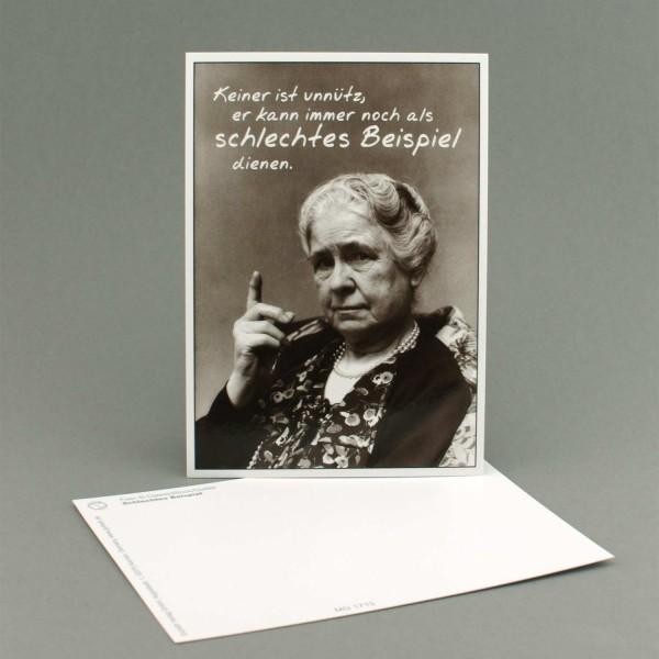 """Postkarte """"Schlechtes Beispiel"""""""
