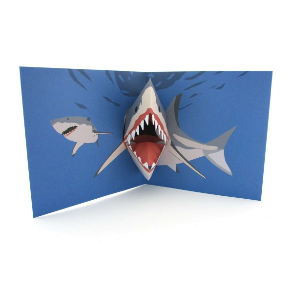 Pop-up-Karte Weißer Hai