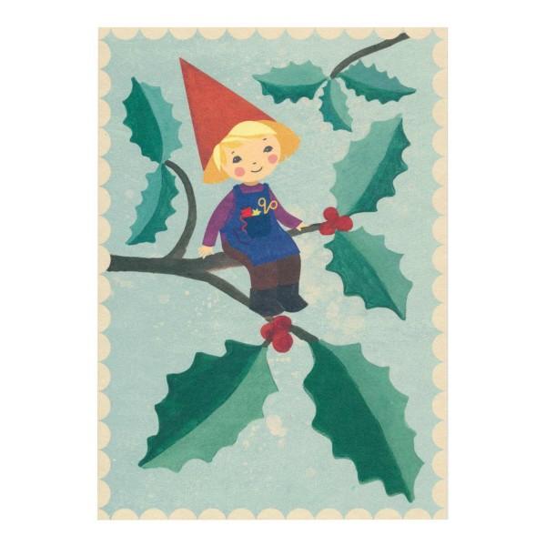 Postkarte Weihnachtswichtel