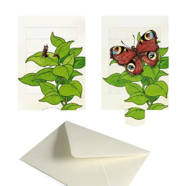 Grusskarte Schmetterling - Lebende Karte Tiermotiv