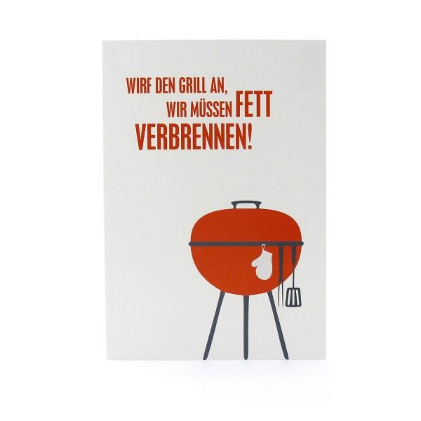 """Postkarte """"Laßt uns grillen!"""""""