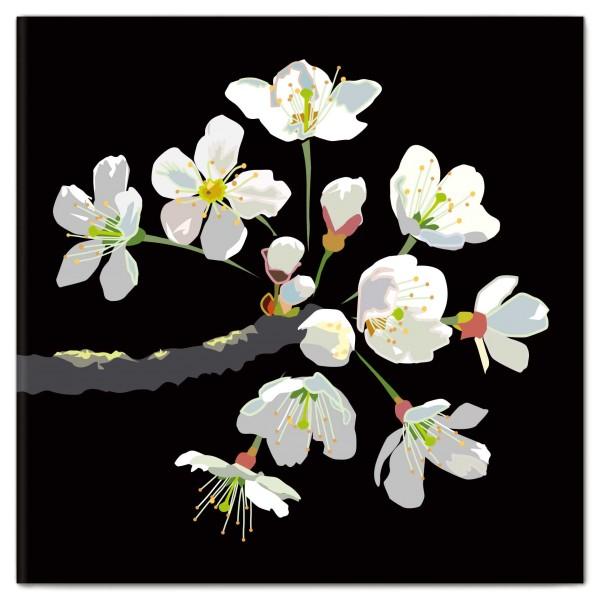 Klappkarte Kirschblüten