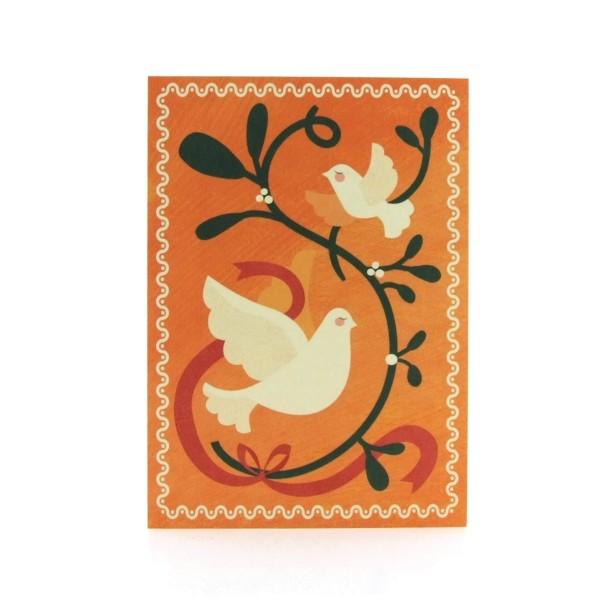 Postkarte Mistelzweig