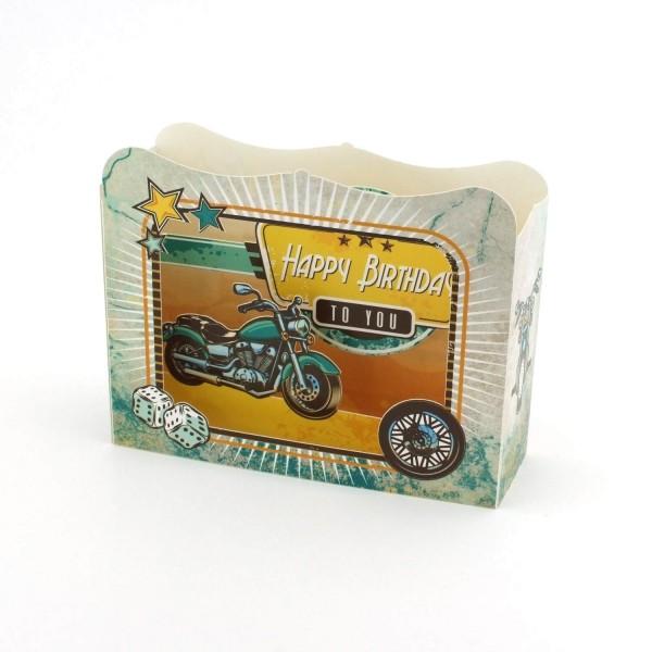 Geburtstagskarte Motorrad Dioramakarte