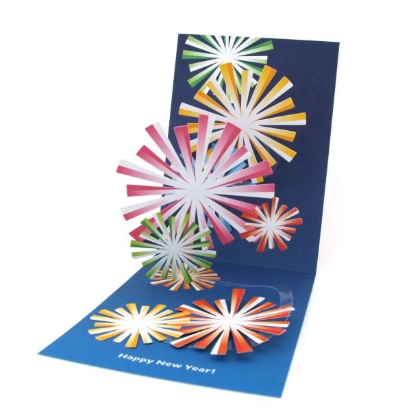 Pop-up-Karte Feuerwerk