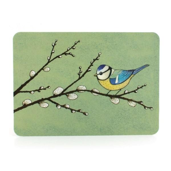 Postkarte Blaumeise