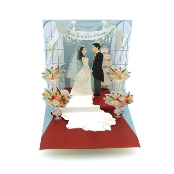 Pop-up-Karte Hochzeit
