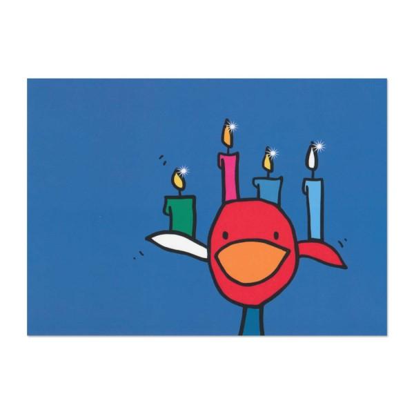 Postkarte Norbert als Kerzenständer