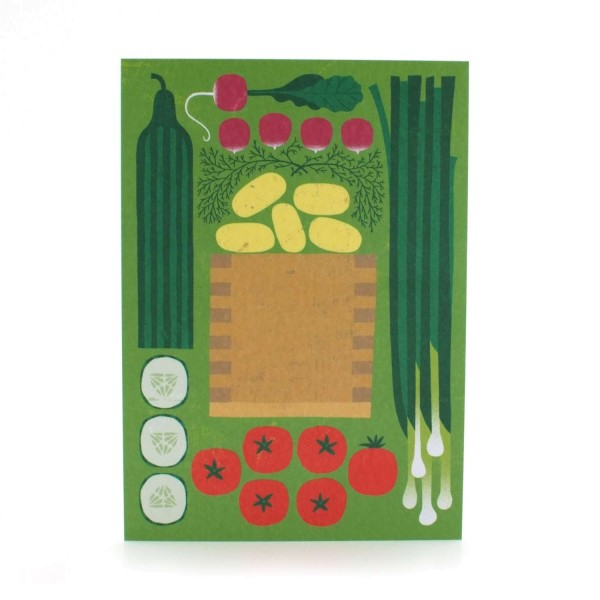 Postkarte Gemüse