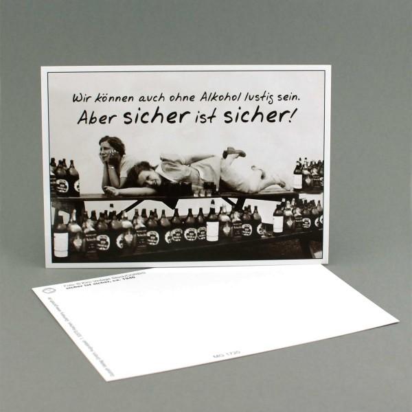 """Postkarte """"Sicher ist sicher"""""""