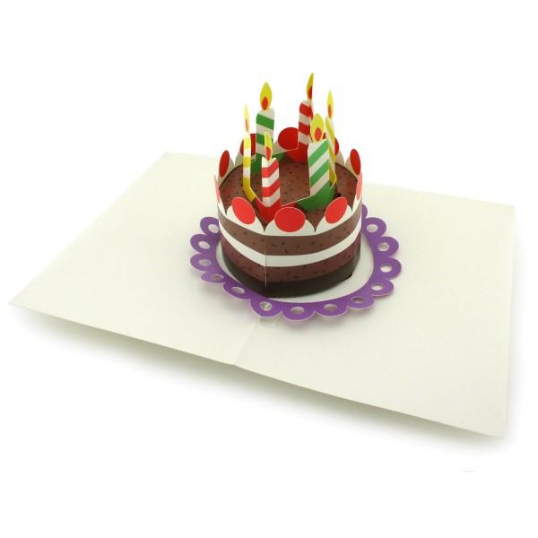 Pop-up-Karte Geburtstagkuchen
