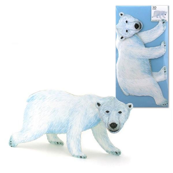 3D-Tierkarte Eisbär