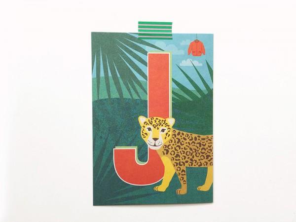 Buchstabenkarte J