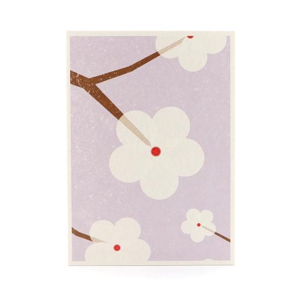 Postkarte mit Kirschblüten