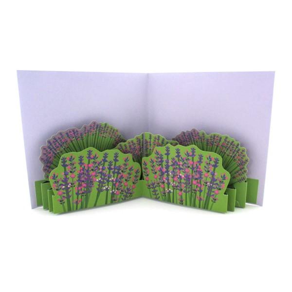 Pop-up-Karte Lavendel