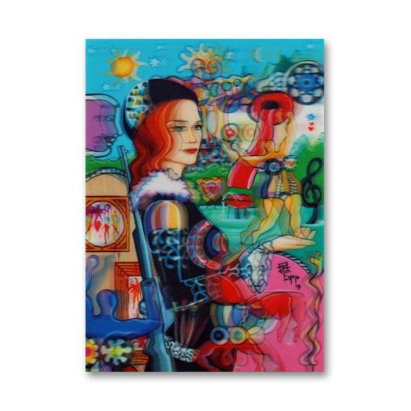 3D-Hologrammkarte Niki de Saint Phalle