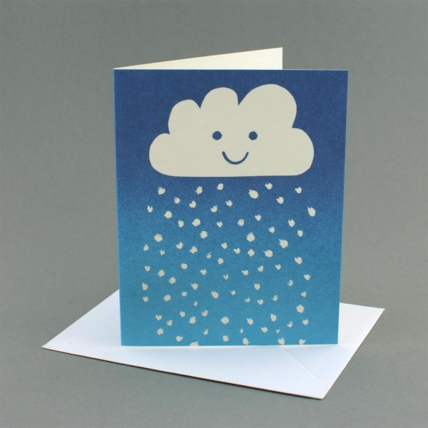 Weihnachtskarte Schneewolke
