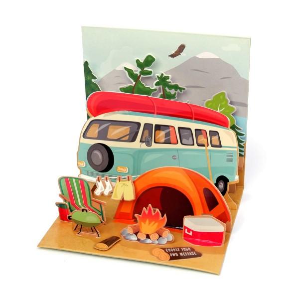 Pop-up-Karte Camping