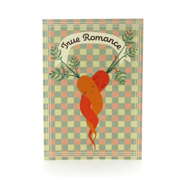 Postkarte Wahre Liebe mit zwei Karotten
