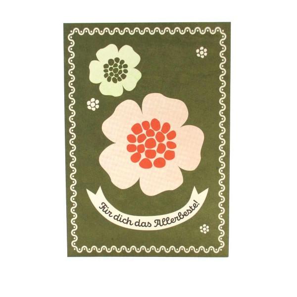 Postkarte Für Dich das Allerbeste