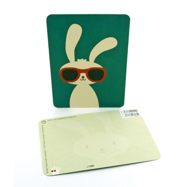 Postkarte Cooler Hase