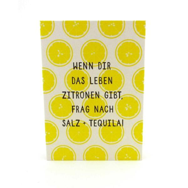 Postkarte mit Zitronen
