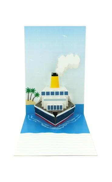 "Pop-up-Karte ""Kreuzfahrtschiff"""