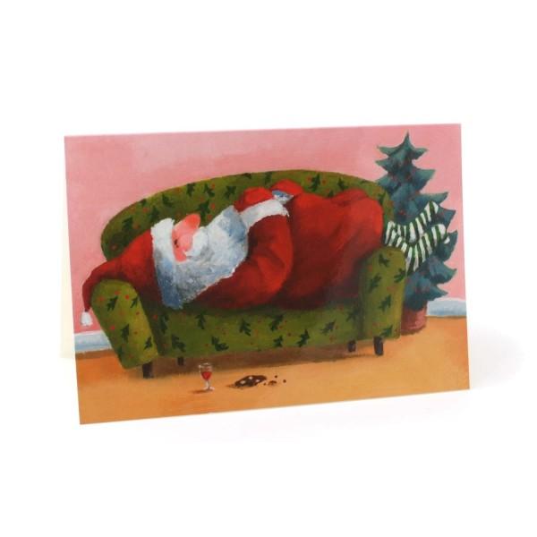 Weihnachtskarte Der Nikolaus macht Pause
