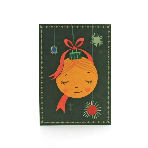 Postkarte Weihnachtskugel