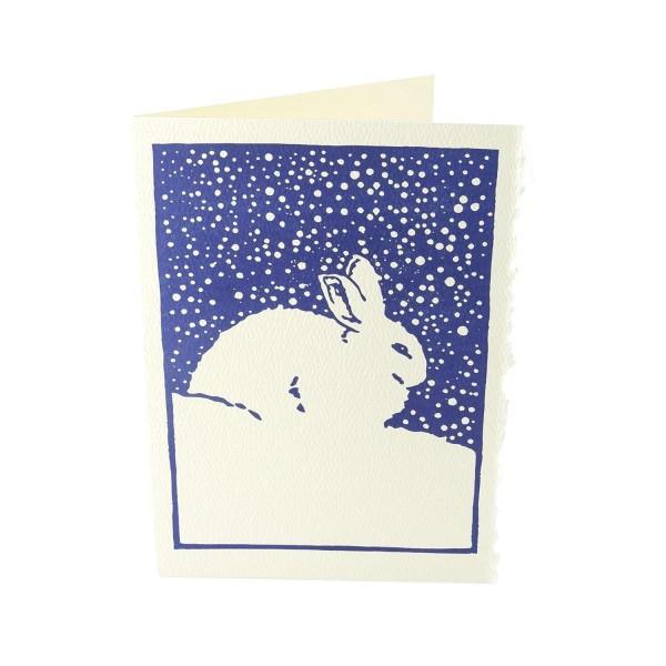 """Weihnachtskarte """"Schneehase"""""""