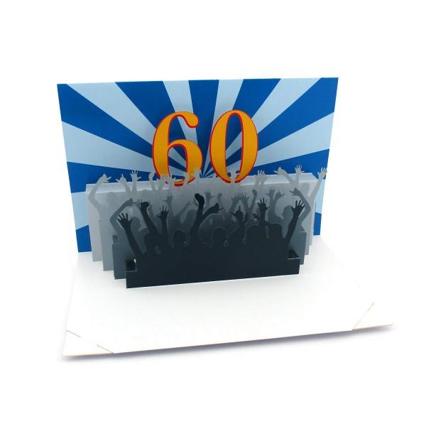 Pop-up-Karte 60. Geburtstag
