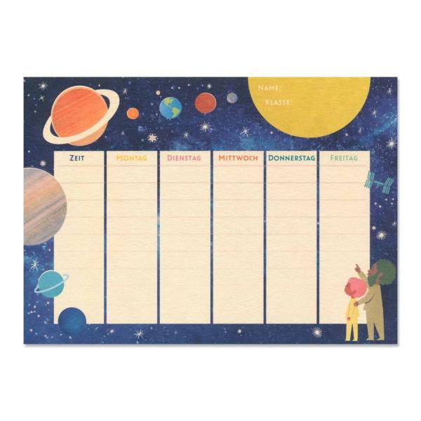 "Postkarte ""Stundenplan"""
