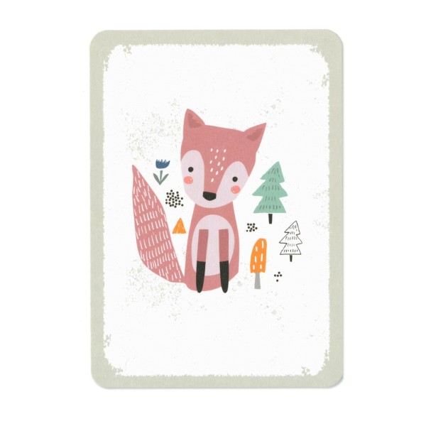 Postkarte Roter Fuchs