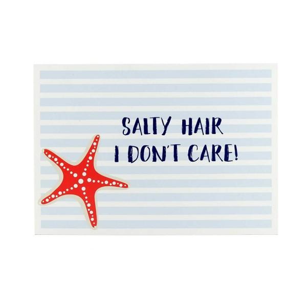 Postkarte Salty hair, I don´t care