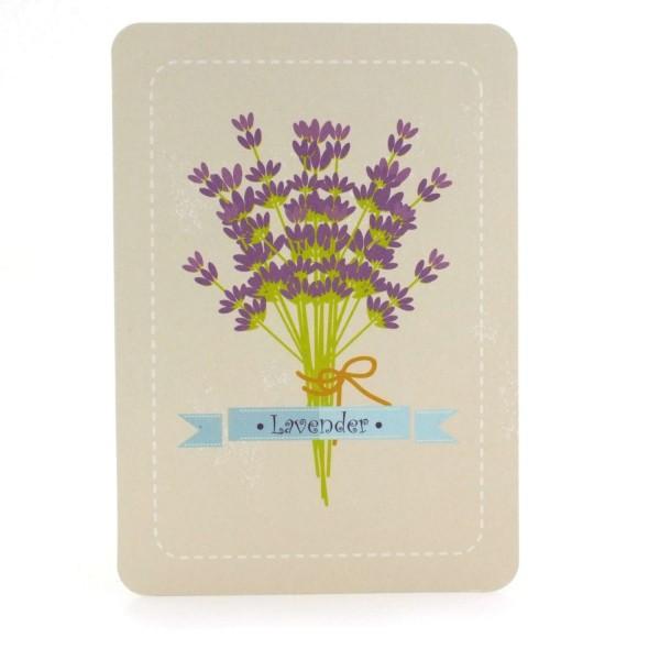 Postkarte Lavendel