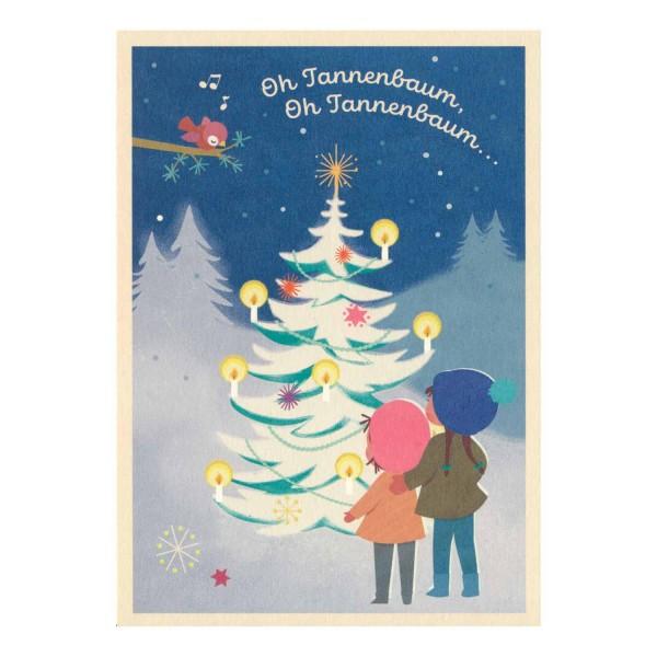 Postkarte Oh Tannenbaum...