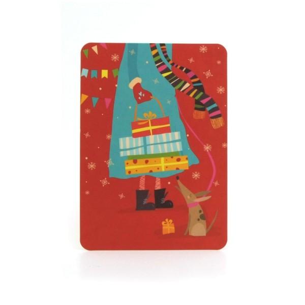 Postkarte Weihnachtseinkauf