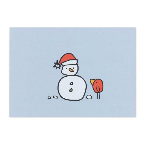 Postkarte Nobert und der Schneemann