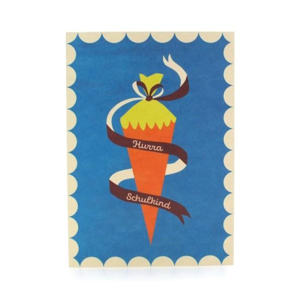 Postkarte zur Einschulung