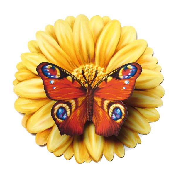 "Pop Up Karte-Grußkarte ""Schmetterling in Blüte"""