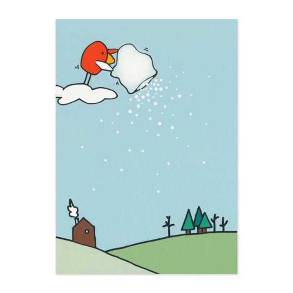 Postkarte Norbert macht Schnee