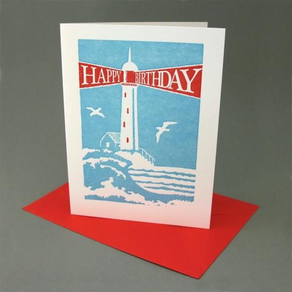 Klappkarte / Letterpress Leuchtturm