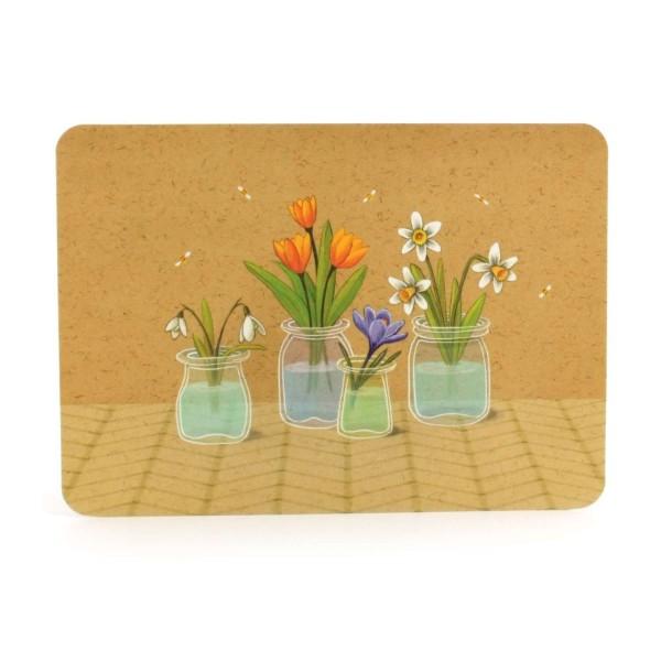 Postkarte Frühlingsblumen