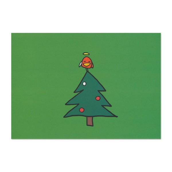 Postkarte Norbert auf Weihnachtsbaum