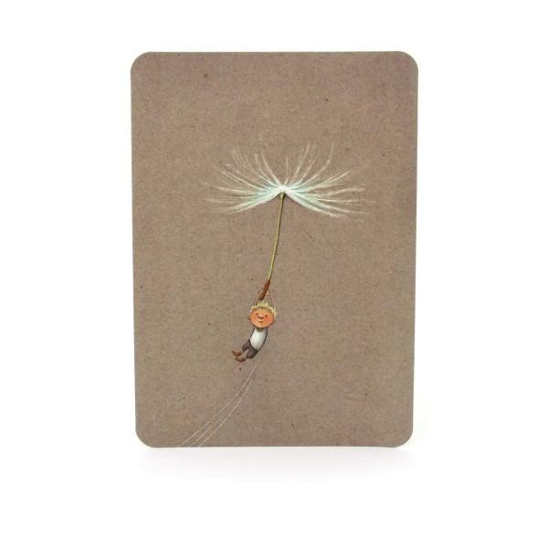 Postkarte Fliegender Jung