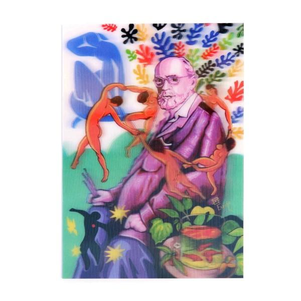 Hologrammkarte Porträt von Matisse