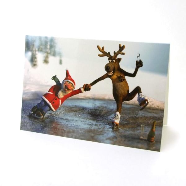 Weihnachtskarte Wintertag