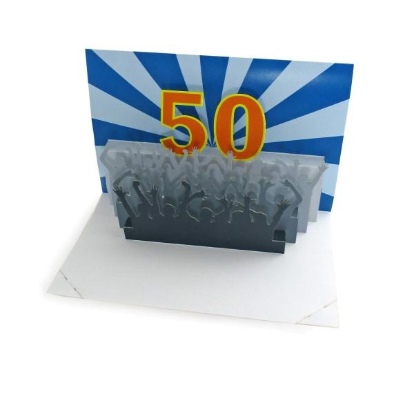 Pop-up-Karte 50. Geburtstag